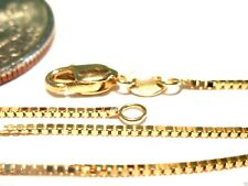 10kt Real Pure Solid Gold 16 inch .8MM Box Chain Lobster Lock stamped Guaranteed
