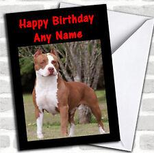 American Pitbull Dog Birthday Customised Card