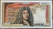 Billet de 500 nouveaux francs MOLIÈRE 2 - 7 - 1959 FRANCE G.2