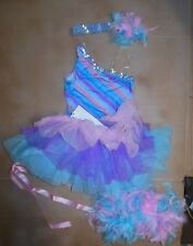Lot of 4 Pieces Dress Up Dance Costume Fun Tap Jazz 1 shoulder leotard Girls SM