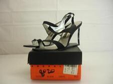 womens 9.5 M Anne Klein black crepe pumps sandals clear lucite wedge heels shoes