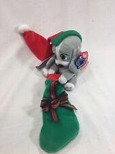 Applause Sad Sam Honey Christmas Plush Dog Stocking Red Hat
