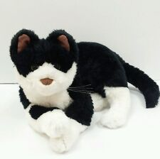 "Rare Large Kellytoy Plush Stuffed 16"" Black & White Cat Kitten Kitty Animal Toy"