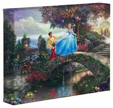 "Thomas Kinkade Disney CANVAS 8""x10""  - Cinderella Wishes New WITH COA"