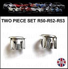 BMW MINI CHROME Door locking Pin Surrounds Cooper/ S/ONE R50 R52 R53 mod 2001-08