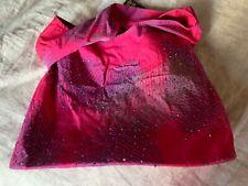 Caribelle Batik Cotton Pink Embellished Bag NWT