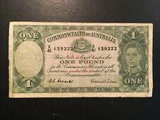 AUSTRALIA  1 Pound  1952  -- Coombs / Wilson