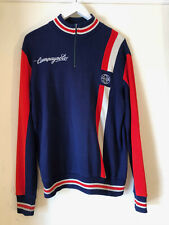 Vintage Campagnolo Decca Wool Cycling Jersey, Large, Long Sleeve
