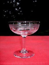 SÈVRES SAINT LOUIS TALL SHERBET GLASS COUPE A CHAMPAGNE GLÄSER CRISTAL GRAVÉ 9