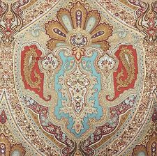 NOBLE EXCELLENCE Avalon KING COMFORTER SET 3pc Paisley Floral MOROCCAN Red VILLA