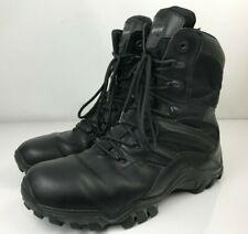 Black Bates E02348 Delta Style Boots W/ Side Zipper - Men's Size 11.5 M