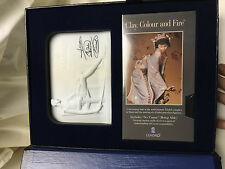 Lladro Collectors Society Set Bisque Porcelain Plaque & Tape In Expression Case
