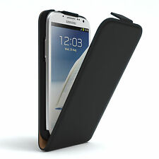 Tasche für Samsung Galaxy Note (1) Flip Case Handy Schutz Hülle Cover Schwarz