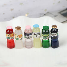 Casa de muñecas en miniatura botellas de bebidas accesorios de cocina