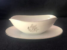 Noritake China Taryn Pattern # 5912 Gravy Boat with Attached Platter