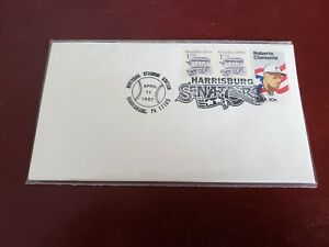 1987 #2097 20¢ Roberto Clemente Harrisburg Senators No Cachet & Unaddressed FDC