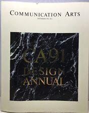 Communication Arts November 1991 CA91 Design Annual 228 Book
