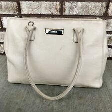 "DKNY Soft Leather ""Cream Beige"" Purse Shopper Crossbody Shoulder Bag Handbag"