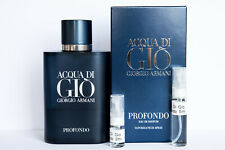 Acqua Di Gio Profondo by Giorgio Armani (NEW 2020) - 2ml 5ml 10ml SAMPLE Decants