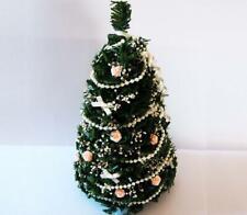 DOLLHOUSE Ivory Peach Christmas Tree dhs4799 Doll House Shoppe Miniature