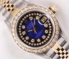 Rolex Lady Datejust Two Tone 18k Diamond Bezel-Blue Vignette String Diamond Dial