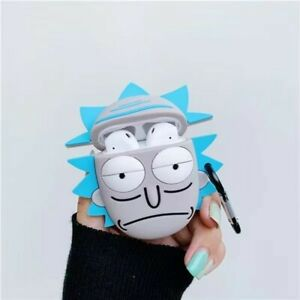 Rick Sanchez Airpods Protective Case Cover Rick And Morty Show For Gen 1/2 & Pro