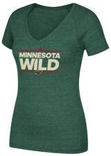 "Minnesota Wild Women's Adidas NHL ""Dassler"" Tri-Blend Premium T-shirt"