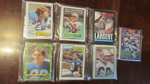 SEATTLE SEAHAWKS TEAM SETS-7 DIFF FOOTBALL 1982,83,85,86,87,88, AND 1989.