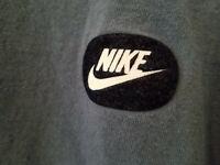 Vintage Nike Mens XL T Shirt Blue Felt Nike Swoosh Patch 100% Cotton