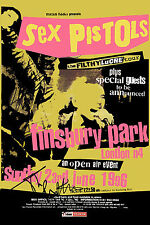 PUNK: Sex Pistols at Finsbury Park London Poster 1996