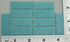 """12 Opaque Turquoise Blue 1/2"""" x 1 1/2"""" Bullseye Glass 90 Coe"""