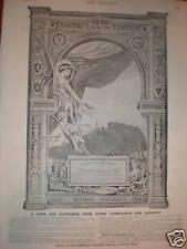 Bertelli's Catamin Pills Gold Medal winner advert 1891