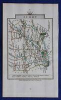 Original antique county map SURREY, 'SURRY', John Cary, 1828