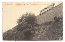 barcelona , tibidabo , détalle de la linea del funicular