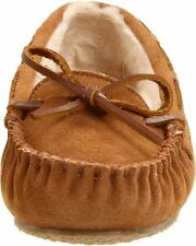 Leather Moccasins Solid Slippers for Women US Size 6