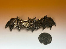 Vintage Alchemy England Hair Clip Gothic BAT  Spring Loaded Clip Pewter  1997