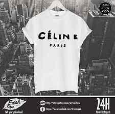 Celine PAris T Shirt Feline Meowt Tumbrl Zoella Homies Rihanna Wasted Youth Dope