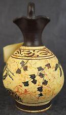 Simou Ceramics Greek Revival Museum Replica Hand Painted Pottery Jug
