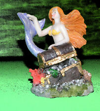 Mermaid Aquarium Decoration Rocks Treasure Chest Figure Aquariumfigur New