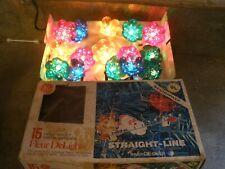 Vintage General Electric 15 Merry Midget Christmas Fleur DeLights string set