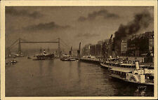 Schiffe ~1920/30 Hafen Port de Rouen Schiff Dampfer Anlegestelle Harbour Scene