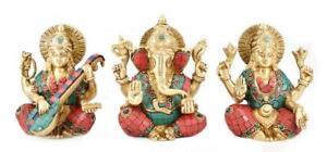Whitewhale Lakshmi, Ganesh, Saraswati Idols