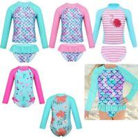 Baby Girls Toddler Kid 2 Piece Swimsuit Tankini Set Swimwear UV Sun Protection