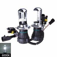 1 Pair H4 35W 6000K HI/LO Beam Bi-Xenon HID Conversion Kit Light Bulbs Globes