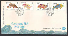 (FDCHK045) HONG KONG 1981 Fish Special Stamp Issue First Day Cover FDC