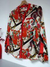 Ladies Lovely Next Cream Mix Floral Hip Length Party Shirt Size 12 Petit, Vgc