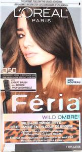 1 L'oreal Feria Wild Ombre Brush On Ombre Effect 050 Darkest Brown To Soft Black