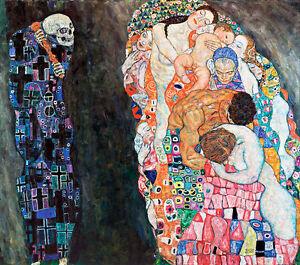 Death and Life A1+ by Gustav Klimt High Quality Canvas Art Print