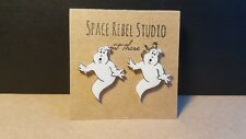 GHOST Stud Earrings~Ghostbusters~Jewelry~Halloween~80's 90s~Throwbacks~Retro~Boo