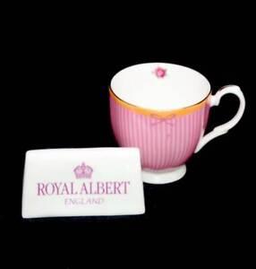 Royal Albert Sweet Stripe Candy Collection pink & roses mug
